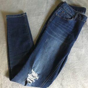 Kensie Knockout Mid Rise Skinny Jeans